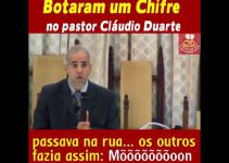 Botaram um Chifre no pastor Cláudio Duarte